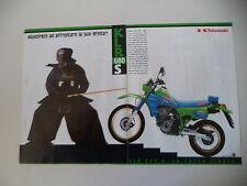 advertising Pubblicità 1990 MOTO KAWASAKI KLR 600 S