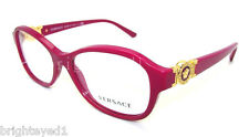 Authentic VERSACE Fuchsia Rx Eyeglass Frame VE 3185 - 5067 *NEW*  52mm