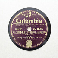 """FODEN'S MOTOR WORKS BAND """"The Yeoman Of The Guard"""" COLUMBIA FB-2860 [78 RPM]"""