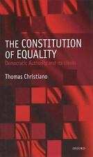 The Constitution of Equality: Democratic Authority and Its Limits, Thomas Christ