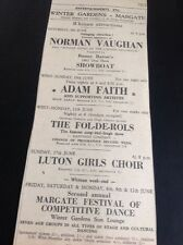65-6 1962 Advert Margate Winter Gardens Adam Faith Luton Girl's Choir