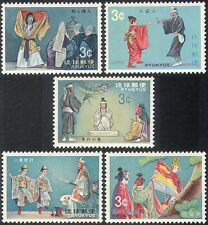 "Ryukyus 1970 ""Kumi-Odori"" Theatre/Actors/Acting/Arts/Drama/Plays 5v set (n32880)"