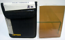 "Tiffen 4x5.65"" Solid Color Tobacco 2 Glass Filter Schneider Filters Panavision"