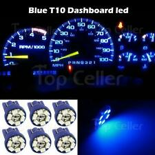 6x Blue T10 Wedge Gauge Cluster Instrumental Speedometer LED Light Bulb