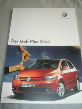 VW Golf Plus Goal brochure Feb 2006 German text