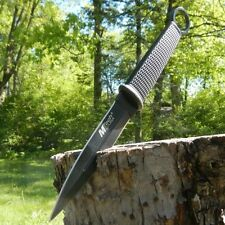 "10"" TACTICAL HUNTING Throwing Combat FIXED BLADE KNIFE Double Edge w/ SHEATH"