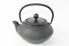 24 fl oz Black Hobnail Japanese Cast Iron Teapot Tetsubin with Infuser Filter