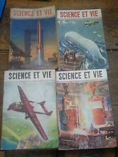 Lot de 4 Science et vie n° 345 ,352 , 363, 366 années  1946 ,  1947 , 1948