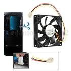 3 Pin 80mm 15mm PC CPU Cooling Fan Heatsinks Radiator For Desktop Computer 12V