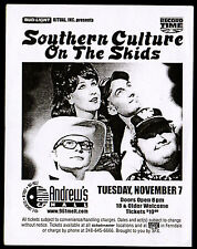 SOUTHERN CULTURE ON THE SKIDS Concert Show Poster DETROIT 2000 St Andrews Hall