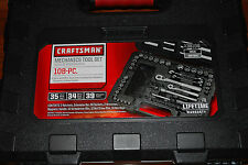 "New Craftsman 108 pc 6pt 1/4"" and 3/8"" Drive Mechanics Tool Set # 38108"
