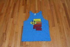 CANVAS SUNS OUT GUNS OUT GRAPHIC MUSCLE TANK TEE BLUE SIZE LARGE NEW