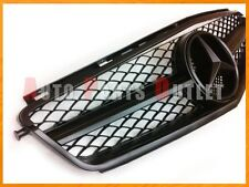 2008-2011 M-BENZ W204 C63AMG Sedan Only Matte Black 1 Fin Mesh Front Grille