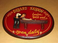 MANCAVE POOL ROOM BILLIARD SALOON LONDON WEST END OPEN DAILY  WALL SIGN