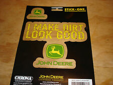 "John Deere Tractor Logo ""I Make Dirt Look Good"" Decal Window Sticker Chroma 9977"