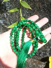 Chinese Maw Sit Sit Jade 108 mala/prayer 8mm beads praying necklace 32 inch