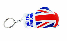 mini boxing gloves keychain keyring key chain ring NEW leather Flag UK ENGLAND
