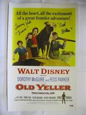 """Tommy Kirk Signed """"Old Yeller"""" Autograph 11x17 Inscribed Canvas Auto PSA DNA COA"""