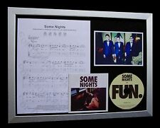 FUN Some Nights LIMITED CD MUSIC FRAMED DISPLAY+EXPRESS GLOBAL SHIPPING