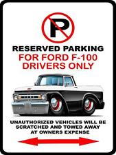 1961-62 Ford F-100 Pickup Truck Car-toon No Parking Sign NEW