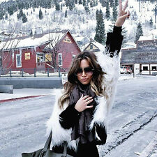 Sexy Women's Warm Outwear Slim Vest Faux Fox Fur Winter Waistcoat Jacket Coat N1