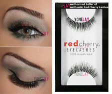 1 Pair AUTHENTIC RED CHERRY #213 Harley Human Hair False Eyelashes Eye Lashes