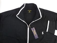 Polo Ralph Lauren 100% Cotton Track Jacket w Pony 3 Colors $135 Colorblock Trim