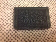 Celtic Chain Oberon Leather CARD HOLDER business/ID/credit Dark green