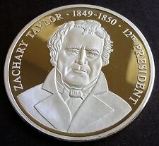 Presidents of the U.S. series .999 Silver Zach Taylor 12th President Round