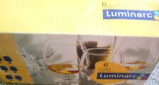 Set of Six Luminarc French La Cave Cognac Brandy Glasses in Box 77cl