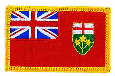 FLAG PATCH PATCHES Ontario IRON ON EMBROIDERED CANADA PROVINCE