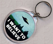 THE X-FILES - I WANT TO BELIEVE - ROUND KEYRING