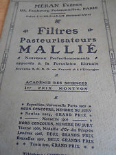 catalogue de filtres pasteurisateurs L'ISLE ADAM 95