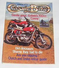CLASSIC BIKE JULY 1982 - 350CC ROYAL ENFIELD MODEL CO/250CC NSU SPORTMAX