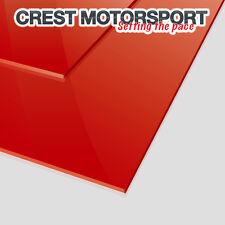 Par de (2), 3 mm de lodo rojo flaps/dirt Guardia material 50cm X 30cm race/rally coche