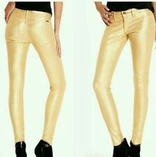 NWT guess by marciano The Skinny No. 61 – Gold Glitter pants jeans size 27