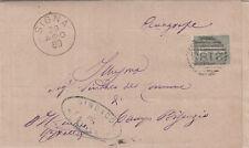 Z6481-TOSCANA, SIGNA, ANNULLO A SBARRE PER CAMPI BISENZIO, 1880