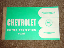 1961 Corvette Factory GM Original Blank Owner Protection Plan Manual w/ Coupons