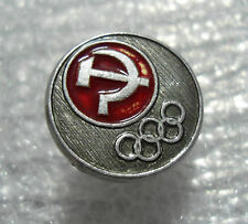 1980 Moscow Russian Olympic Games Official Motif Olympiada 80 Rings Pin Badge