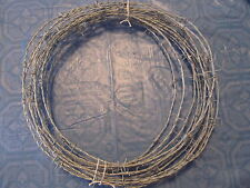 20 FEET  ROLL BARB WIRE FOR (BATS) GAUCHO BRAND 18.5 GAUGE 4 POINT ARTS-CRAFTS