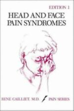 Head and Face Pain Syndromes, Rene Cailliet, M. D., Good Book