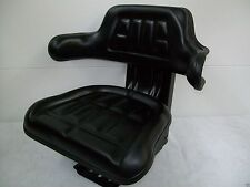 Tractor Seat FORD BLACK Waffle, FarmTractor, Universal Fit,Spring Suspension #IA