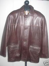 A-PRO-PEAUX MENS DK BROWN LEATHER-L-SUPER SOFT/PLIABLE-CANANDA-BARELY WORN-NICE
