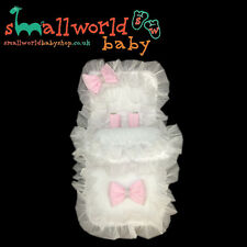 Personalised White Bling Pink Bows Footmuff Cosytoes (NEXT DAY DISPATCH)