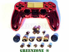 IRON MAN custom RICAMBIO ps4 Controller Hydro immerso Shell MOD KIT & Pulsanti
