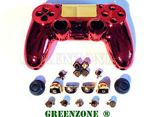 Iron Man Custom Replacement PS4 Controller Hydro Dipped Shell Mod Kit & Buttons