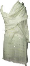 Sommer Schal Baumwolle, bestickt, Handardarbeit weiß grau shawl embroidered wool