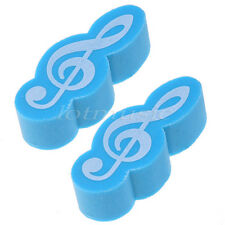 2pcs Sky-blue Stationary Music Note Rubber Eraser Gift