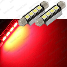 Brilliant Red 4-SMD Error Free 578 211-2 6411 LED Dome Light (2 Pieces)