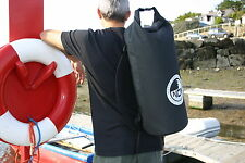 30L drybag fully waterproof. NOW IN BLACK. Padded back straps.Quality PVC bag